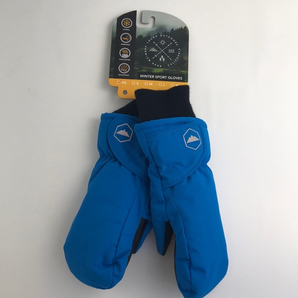 5cd7669a109 Kids Winter Blue Gloves Mittens Sz XS Ages 1-3